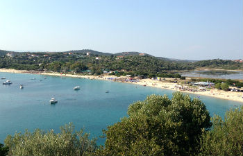 Athos stranden op Amouliani