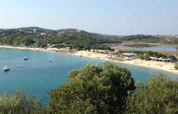 Athos stranden Alykes op Amouliani
