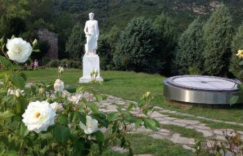 Centrale regio Chalkidiki Aristoteles beeld