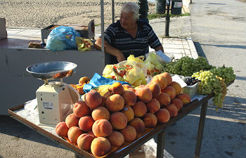 Centrale regio Chalkidiki te doen groenteboer Nea Kallikratia