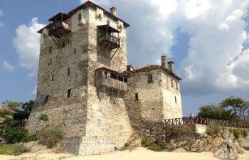Athos vakantie de toren van Ouranoupoli
