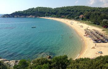 Sithonia te doen naar het strand